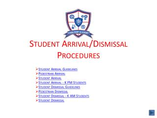 Student Arrival/Dismissal  Procedures