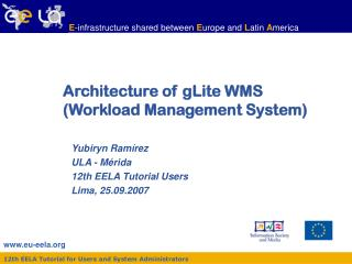 Architecture of gLite WMS (Workload Management System)