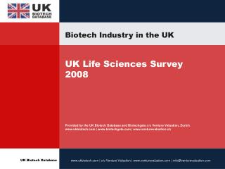 Biotech Industry in the UK
