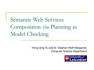 Semantic Web Services Composition via Planning as Model Checking