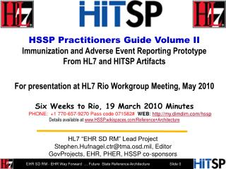 HSSP Practitioners Guide Volume II   Immunization and Adverse Event Reporting Prototype