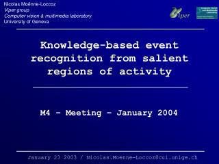 Knowledge-based event recognition from salient regions of activity