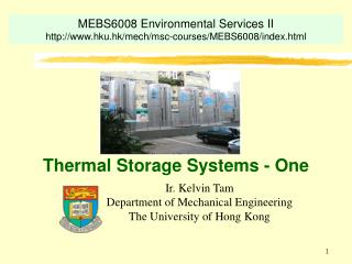 Thermal Storage Systems - One