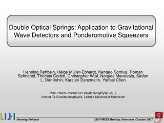 Double Optical Springs: Application to Gravitational Wave Detectors and Ponderomotive Squeezers