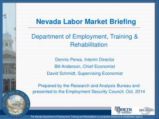 Nevada Labor Market Briefing