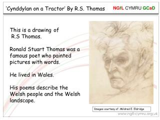 'Cynddylan on a Tractor' By R.S. Thomas