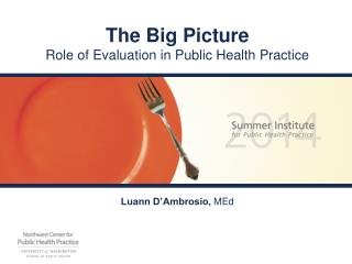 The Big Picture Role of Evaluation in Public Health Practice