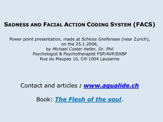 I. The notion of Facial Action Coding Units