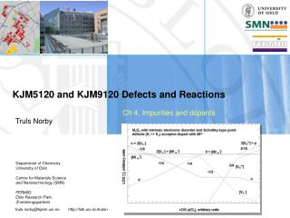 KJM5120 and KJM9120 Defects and Reactions