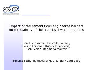 Impact of the cementitious engineered barriers on the stability of the high-level waste matrices