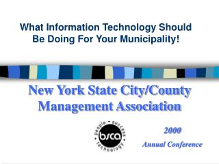 New York State City/County Management Association