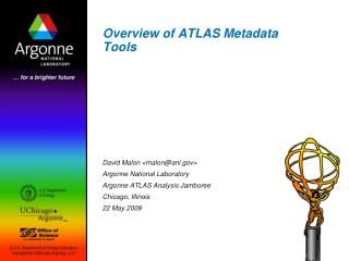 Overview of ATLAS Metadata Tools