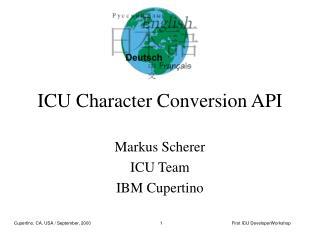 ICU Character Conversion API