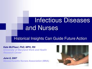 Infectious Diseases       and Nurses