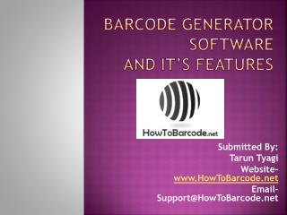 Barcode Generator Software and it's Features