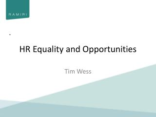 HR Equality and Opportunities