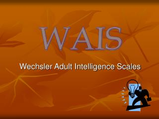 Wechsler Adult Intelligence Scales