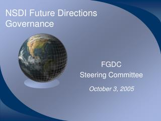 NSDI Future Directions Governance