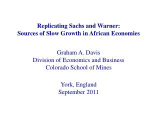 The Sachs and Warner Resource Curse Data
