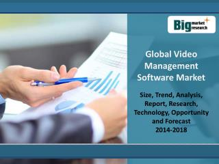 Global Video Management Software Market 2014 - 2018