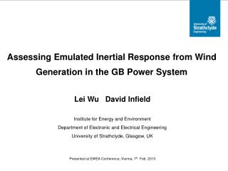 Assessing Emulated Inertial Response from Wind Generation in the GB Power System