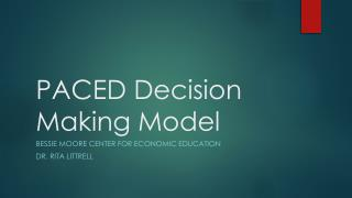 PACED Decision Making Model