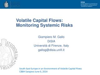 Volatile Capital Flows: Monitoring Systemic Risks