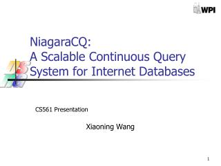 NiagaraCQ:  A Scalable Continuous Query System for Internet Databases