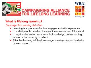 What is lifelong learning?  Campaign for Learning definition