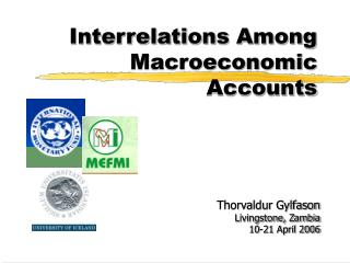 Interrelations Among Macroeconomic Accounts