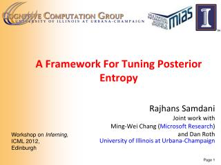 A Framework For Tuning Posterior  Entropy