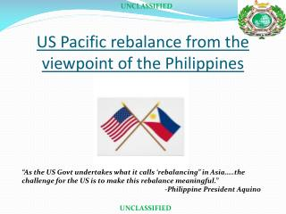 US Pacific rebalance from the viewpoint of the Philippines