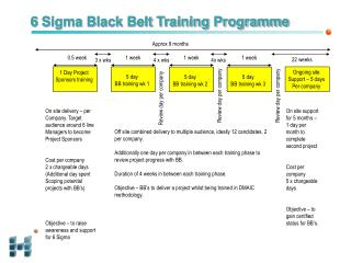 6 Sigma Black Belt Training Programme