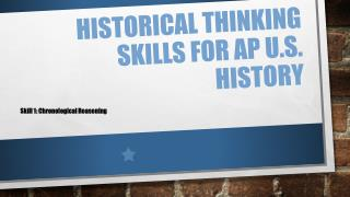 Historical Thinking Skills for AP U.S. History