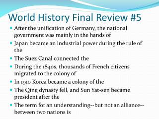 World History Final Review #5