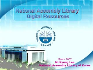 National Assembly Library  Digital Resources