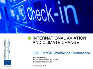 INTERNATIONAL AVIATION AND CLIMATE CHANGE