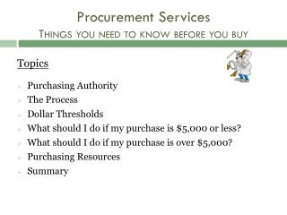 Procurement Services Things you need to know before you buy