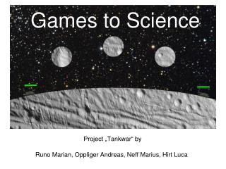 Games to Science