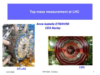 Top mass measurement at LHC