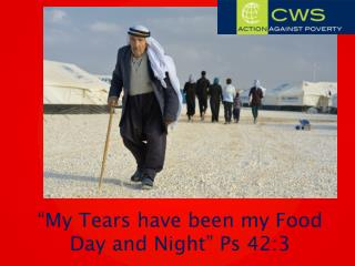 """My Tears have been my Food Day and Night "" Ps 42:3"