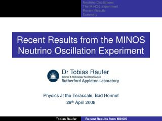 Recent Results from the MINOS Neutrino Oscillation Experiment