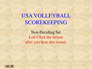 USA VOLLEYBALL SCOREKEEPING