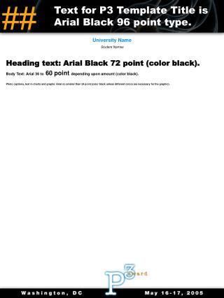 Heading text: Arial Black 72 point (color black).