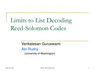 Limits to List Decoding Reed-Solomon Codes