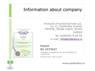 Information about company