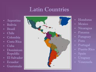 Latin Countries