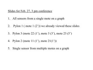 Slides for Feb. 27, 3 pm conference All sensors from a single mote on a graph
