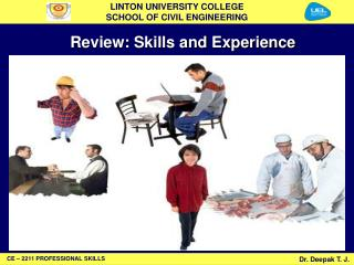Review: Skills and Experience