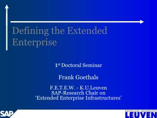 Defining the Extended Enterprise